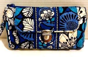 Blue & White Floral Print Vera Bradley Wallet